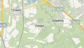 Map of Fletcher Hotel-Restaurant de Zeegser Duinen Zeegse